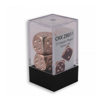 Silver-Plated Metallic 16mm dices